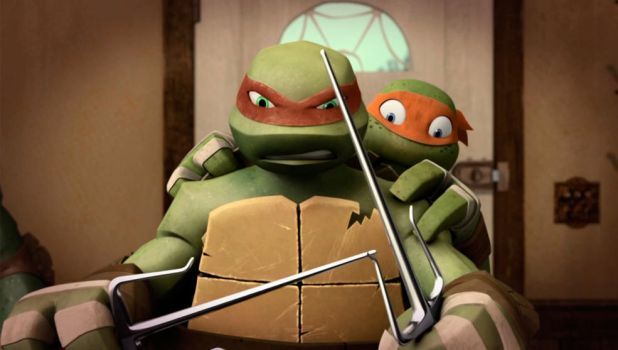 Mikey-and-Raph-TMNT-62 by rosewitchcat