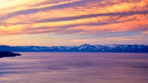 Early December Morning at Tahoe by sellsworth