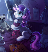 Sweetie Belle Sketch by The-Keyblade-Pony