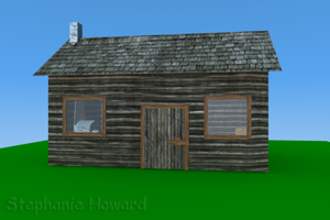 Log Cabin Exterior View 1 by StephanieHoward