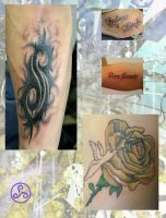 OLD First Tattoos 1 by Klyde-Chroma