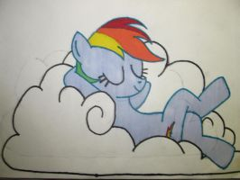 Chillen On a Cloud Like Everypony Should! by JesseThaCherry