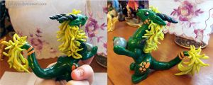 Green Eastern Dragon Sculpt by Ember-Eyes