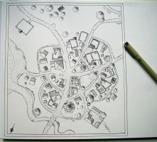 Small village map by Blaidd--Drwg