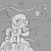 Commission:  Snowdrop Shadowbox Sketch by The-Paper-Pony