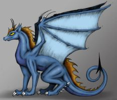 Blue Dragon by Wereducky