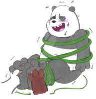 Tickle Torture: Panda (We Bare Bears) by KnightRayjack