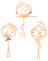 Flexers In Dick Figures Form by 4br1l