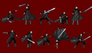 DMC 4 - Dante Pose Pack #2 by IshikaHiruma