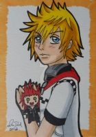 AkuRoku: Roxas Hearts It by LadyNin-Chan