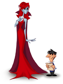 Vlad and the Countess. by Moony-moo