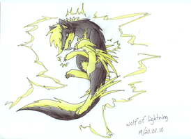 Jumping Wolf of Lightning xD by SneakingSniper