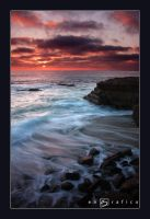 La Jolla Sunset by engrafico