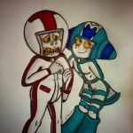 A Turbo and Marina Scribble by LadyIonia