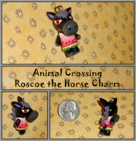 Animal Crossing - Roscoe Horse Necklace Charm by YellerCrakka