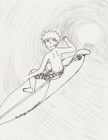 surfs up naruto style: lineart by skywolfangel