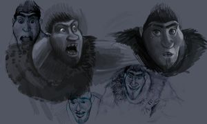 dreamworks:the croods- papa croods by Illustropencil