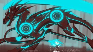 Tron Dragon by KABren