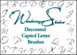 WS Decorated Letters 1 Brushes by DestroyingAngels
