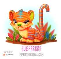 Daily Paint 1562. Sugrrrrr by Cryptid-Creations