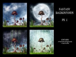 Fantasy Premade BGs pack 1 by Inadesign-Stock