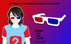 MMD 3D glasses v2+DL by Green-Fighter