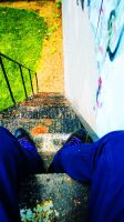 Stair Sitting by agreenbattery