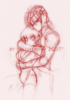 Hayabusa X Kasumi +:Sketchy:+ by YestherDey