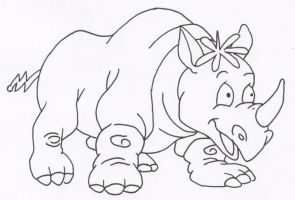 Widget as a Rhino by Stonegate