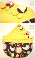 Yellow Filigree Clutch by moofestgirl