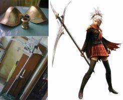 FINAL FANTASY Type - 0 = Sice's Weapon and armors by karlonne