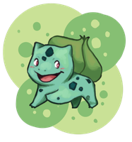 Day 1- Bulbasaur by Mags-Pi