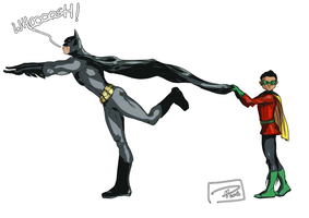 Batman has a sense of humor too by jadenwithwings