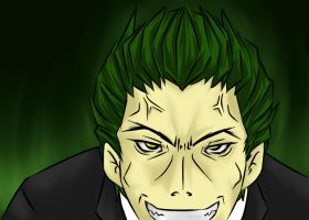 Hazama Poker face by lordmuu