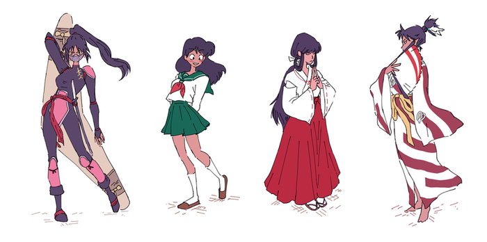 inuyasha girls by MustacheElm