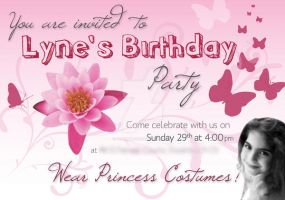 Princess Birthday Party Invite by burningbush
