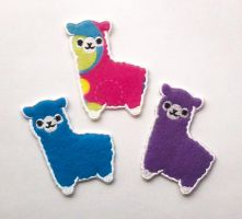 Alpaca Patches by TheHarley