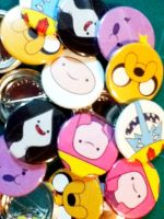 Aventure Time Pins by luigipanda
