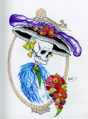 La Catrina (colored) by BDooodles