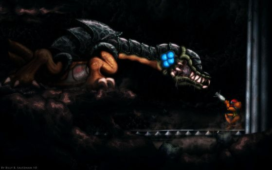 Metroid II Final Boss  HD by Billysan291