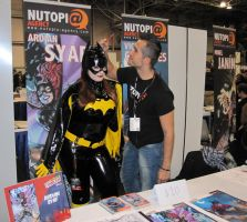 NYCC Batgirl with Vincent Cifuentes by katebrezzy