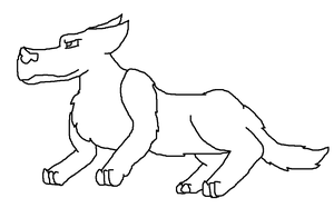 More Wolf Lineart by snails1000
