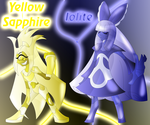 Yellow Sapphire and Iolite by Keytee-chan