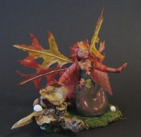 Reedfrost the Autumn faerie 2 by Boggleboy