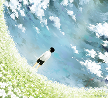 White Flower Field by YOI-kun