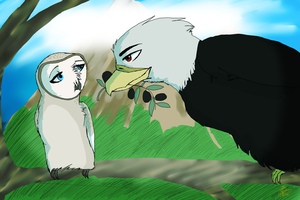 Ares and Athena- Birdy love by Neko-longtail