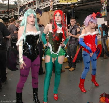 Morrigan, Poison Ivy and Lilith by ArcaneArchery