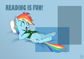 Reading Is Fun by peperoger