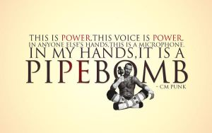 PIPEBOMB  CM Punk wallpaper   text and pic by lovelives4ever