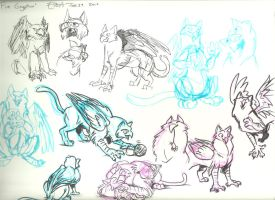FireGryphon Sketch Sheet by FablePaint
